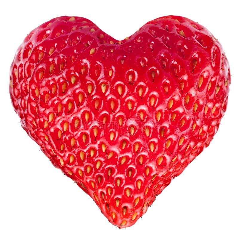 Strawberry heart. stock photos