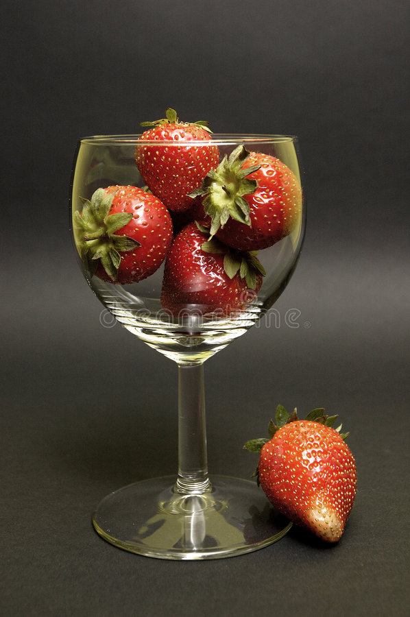 Download Strawberry in the hooter stock image. Image of macro, berry - 158831