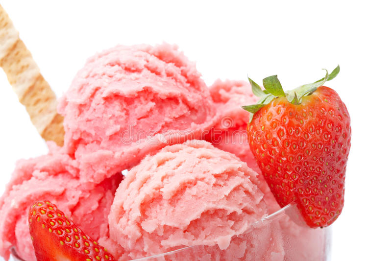 Strawberry ice cream royalty free stock photos