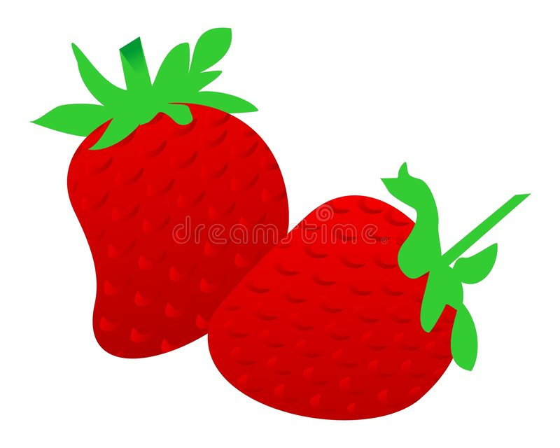 Download Strawberry illustration stock vector. Image of vector - 7311273