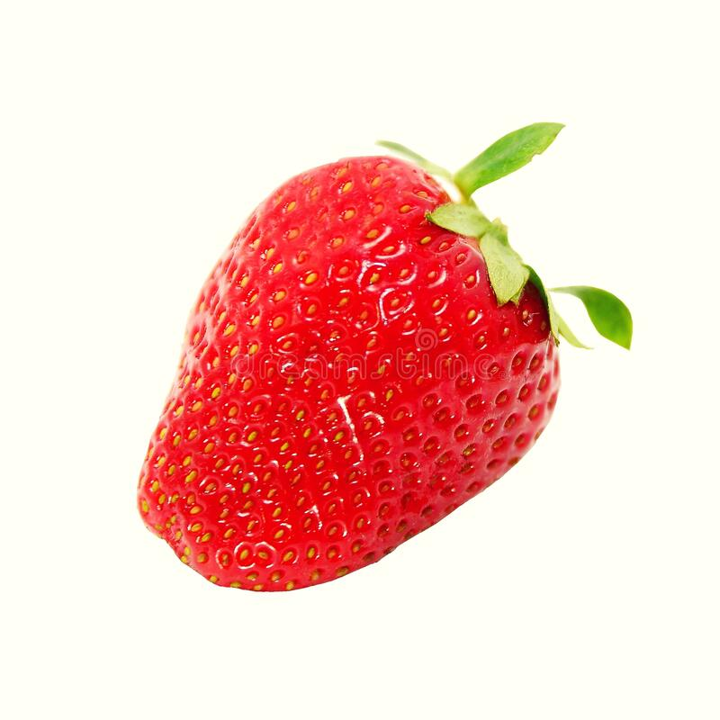 Strawberry isolated over white background royalty free stock photos