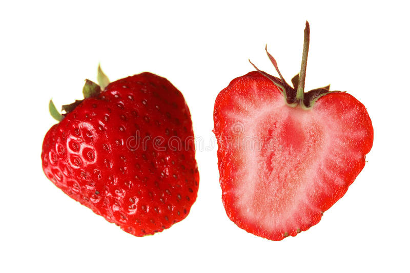 Download Strawberry Isolated On White Stock Image - Image of dessert, macro: 9869469