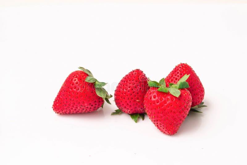 Strawberry isolated on white background stock photography