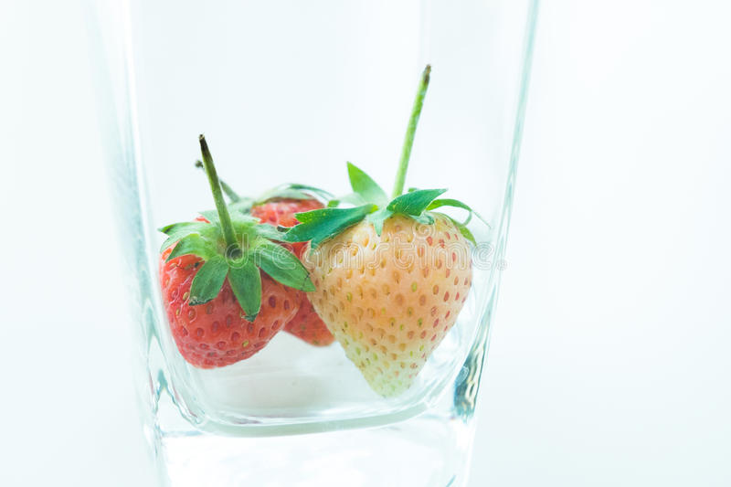 Strawberry isolated on white background cutout. Close up Strawberry isolated on white background cutout royalty free stock photography