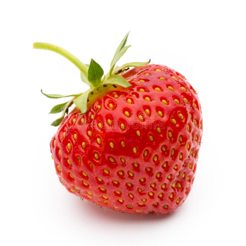 Strawberry isolated on white background. Fresh berry. Strawberry isolated on white background. Fresh berry stock photography