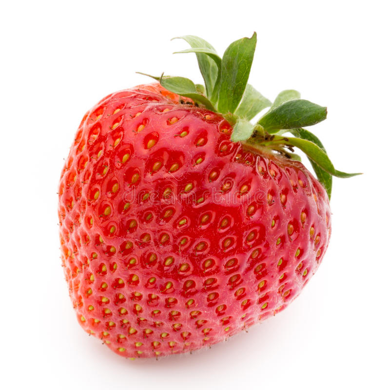 Strawberry isolated on white background. Fresh berry. royalty free stock images