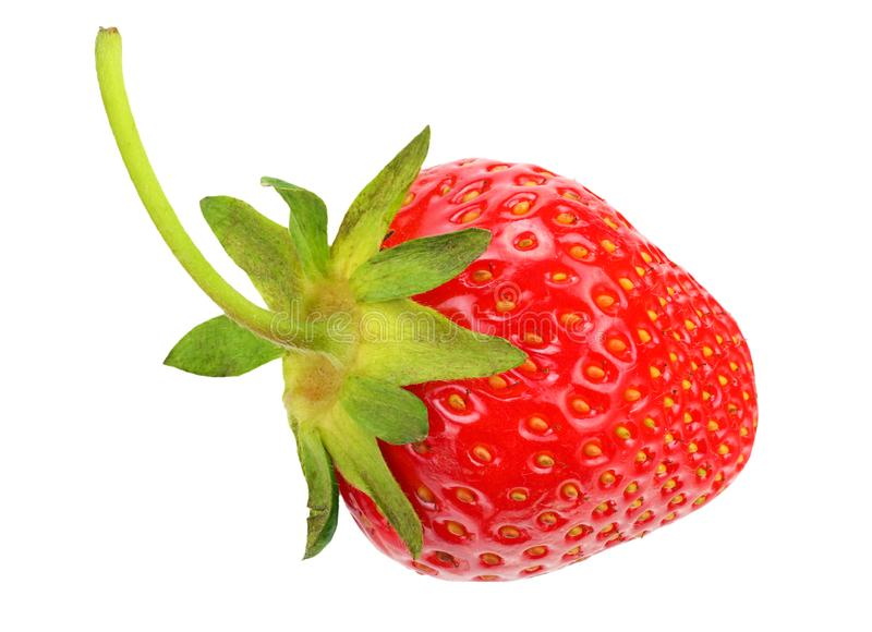 Strawberry isolated on white background. Healthy food royalty free stock photos