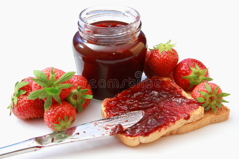 Download Strawberry jam stock image. Image of marmalade, organic - 14859095