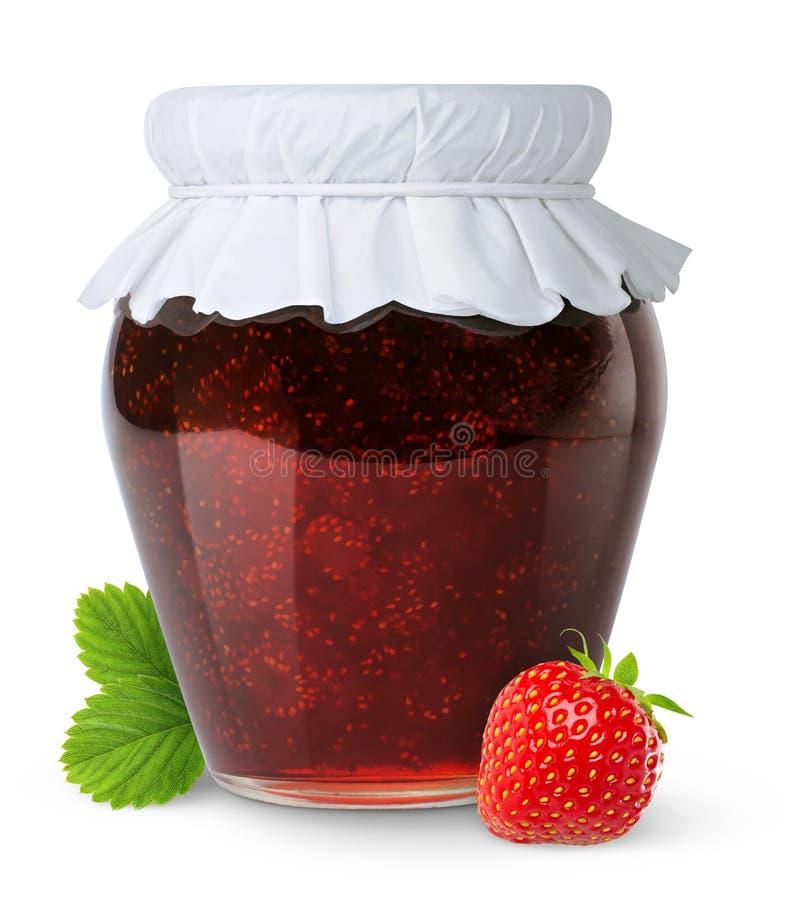 Isolated strawberry jam stock photos