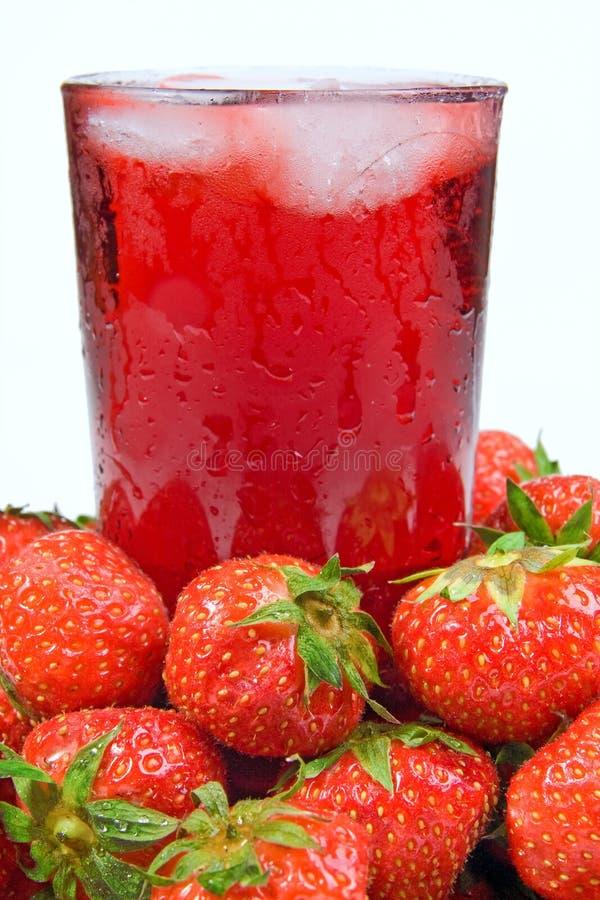 Strawberry juice royalty free stock image
