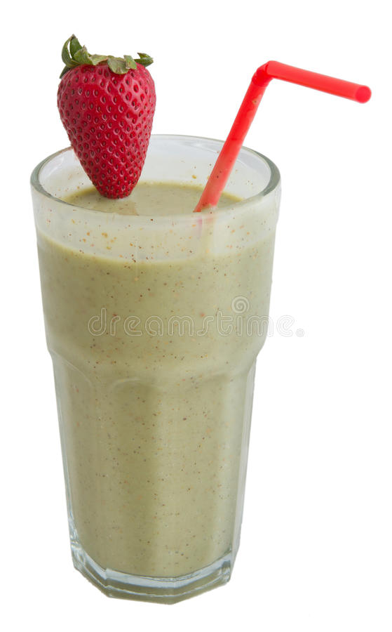 Strawberry kiwi smoothie royalty free stock photography