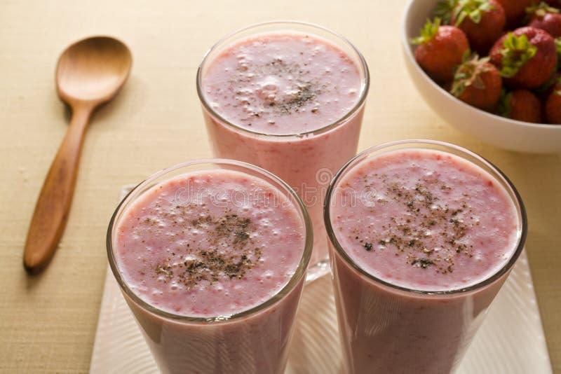 Strawberry Lassi stock photos