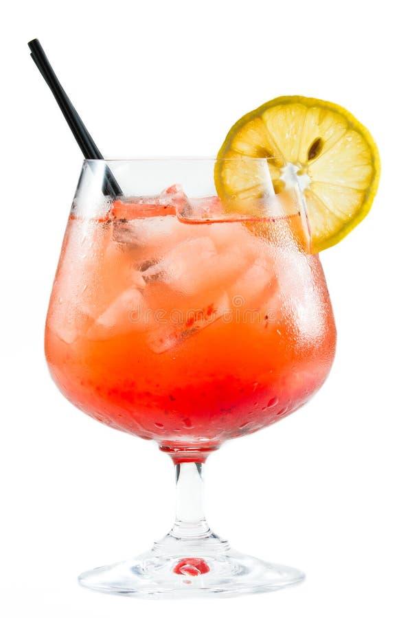 Strawberry lemonade cocktail stock image