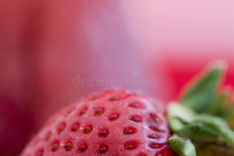 Strawberry Macro Red royalty free stock photos