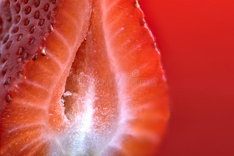 Strawberry Macro Red stock photos