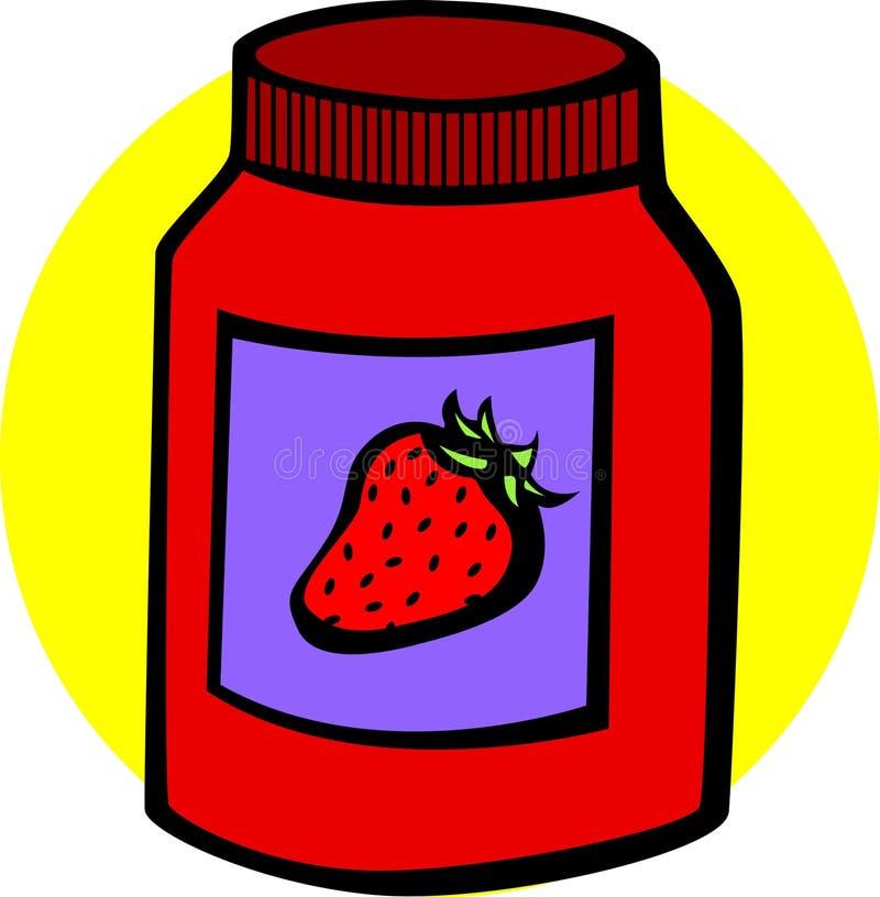 Download Strawberry Marmalade Jar Vector Illustration Stock Vector - Image: 3075433
