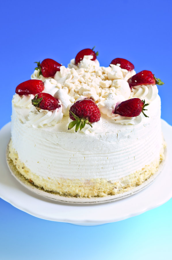 Strawberry meringue cake royalty free stock images