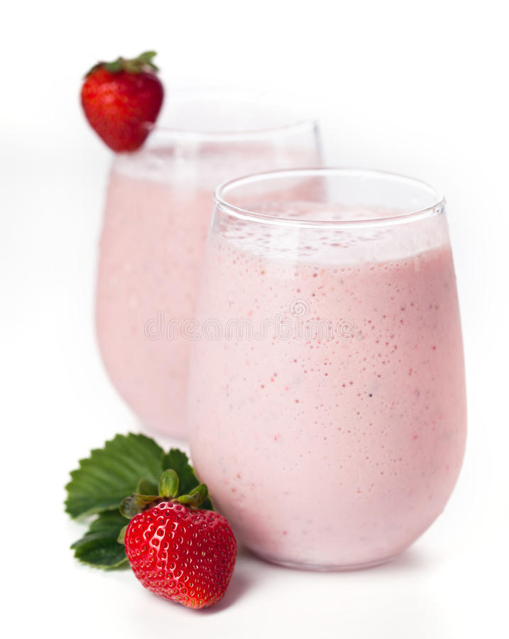 Strawberry milk cocktail royalty free stock images