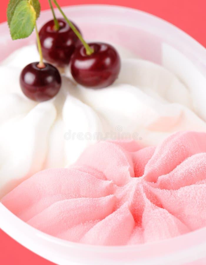 Strawberry And Milk Ice Cream Royalty Free Stock Photo