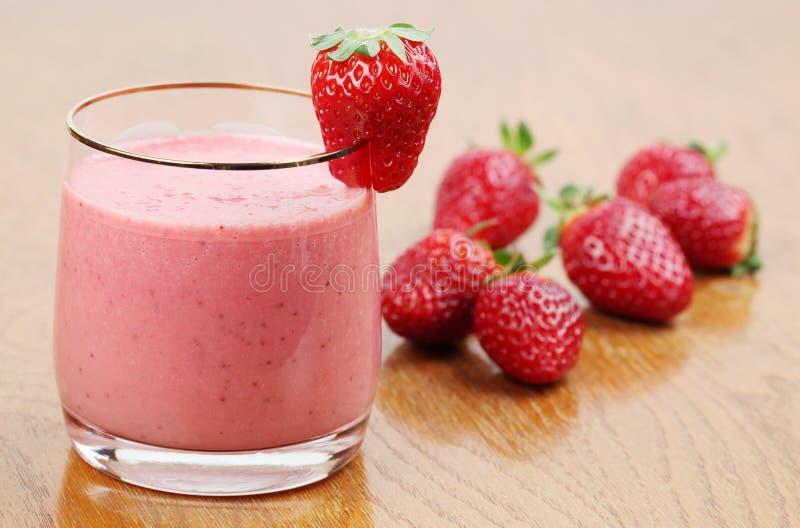 Strawberry milk shake royalty free stock image