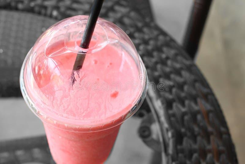 Strawberry milk shake stock photos