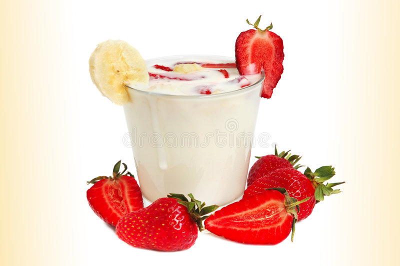 Strawberry milkshake royalty free stock images