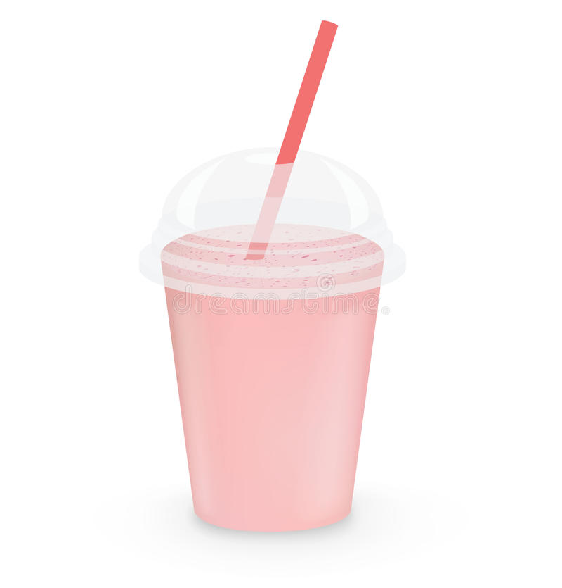Strawberry milkshake stock illustration