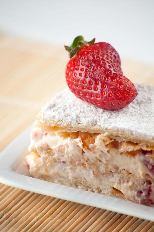 Download Strawberry Millefeuille stock image. Image of tasty, shape - 13641941
