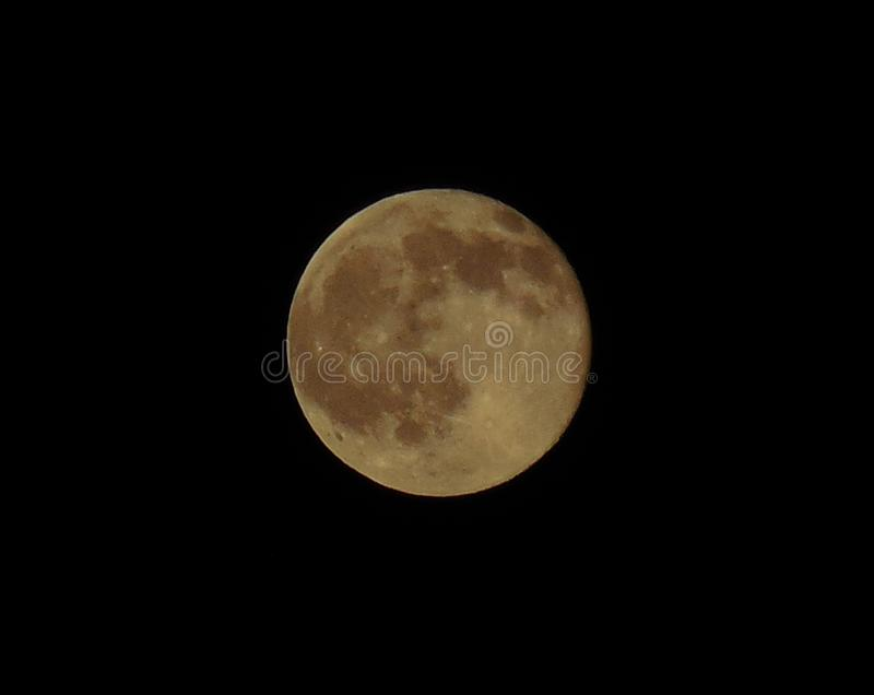 Strawberry Moon Summer Solstice 2016 1. A strawberry moon makes a rare appearance on the summer solstice over North America on June 21, 2016. Early Native royalty free stock photos