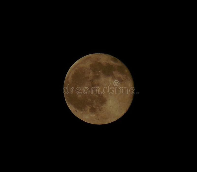 Strawberry Moon Summer Solstice 2016 2. A strawberry moon makes a rare appearance on the summer solstice over North America on June 21, 2016. Early Native royalty free stock images