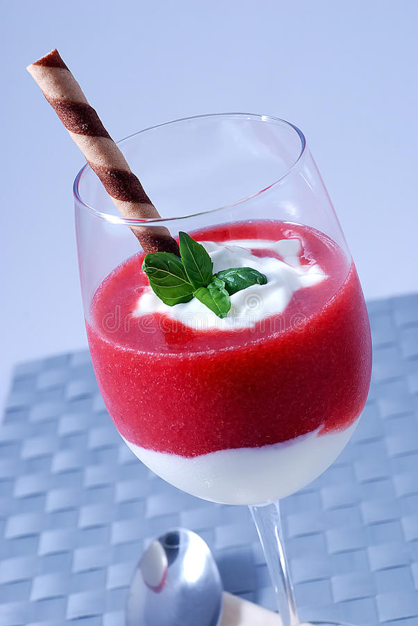 Strawberry Mousse Royalty Free Stock Photo