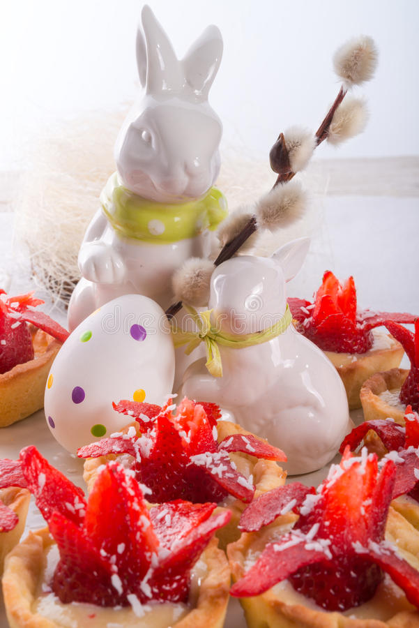 Strawberry muffins stock photo