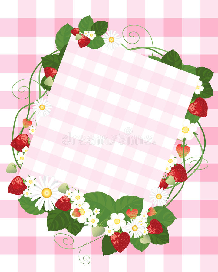 Download Strawberry Notecard Royalty Free Stock Photography - Image: 24681027
