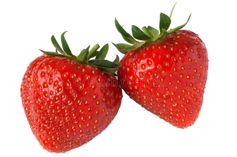 Strawberry pair royalty free stock photo