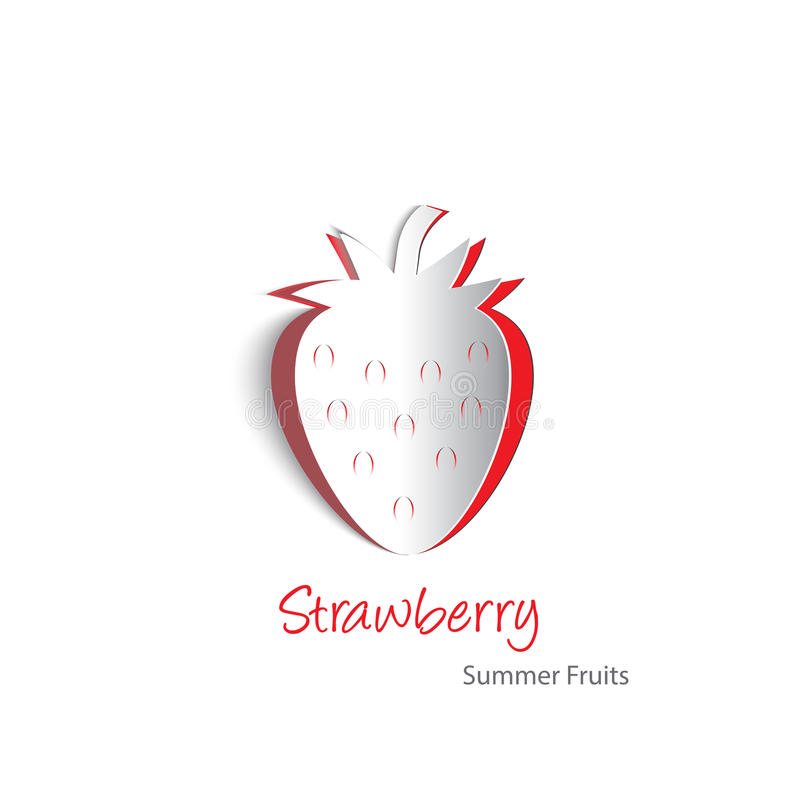 Strawberry Paper Cutout Royalty Free Stock Photos