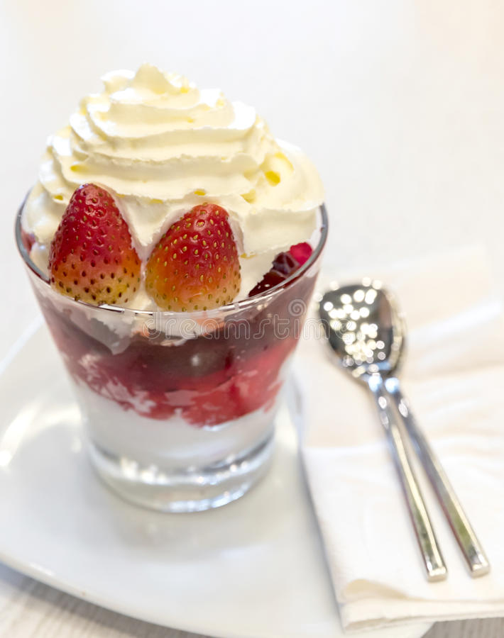 Strawberry Parfait royalty free stock photo