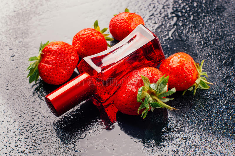 Strawberry perfume royalty free stock image