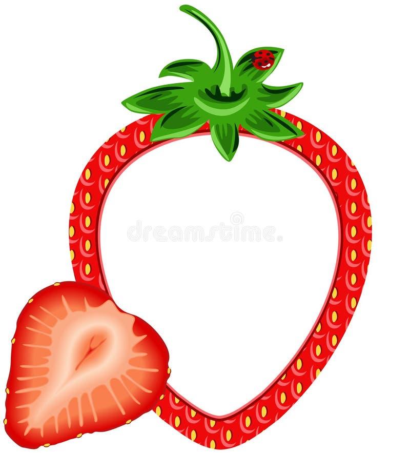 Strawberry Photo Frame stock vector. Illustration of photo - 42834430