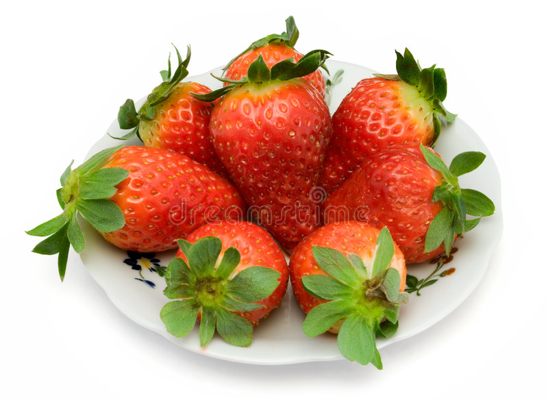 Download Strawberry on plate stock image. Image of dieting, berry - 1994779