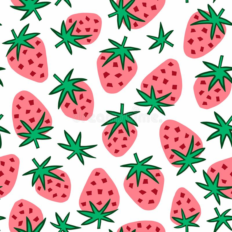 Free Strawberry Seamless Background. Vector. Stock Photos - 193140513