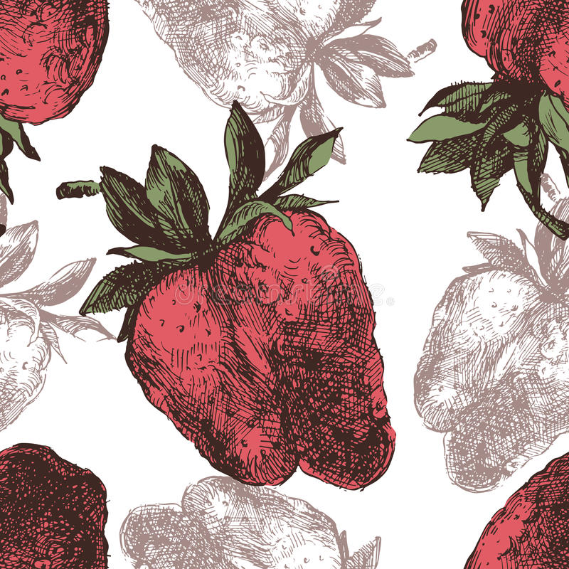 Download Strawberry seamless stock vector. Image of backdrop, food - 43742863