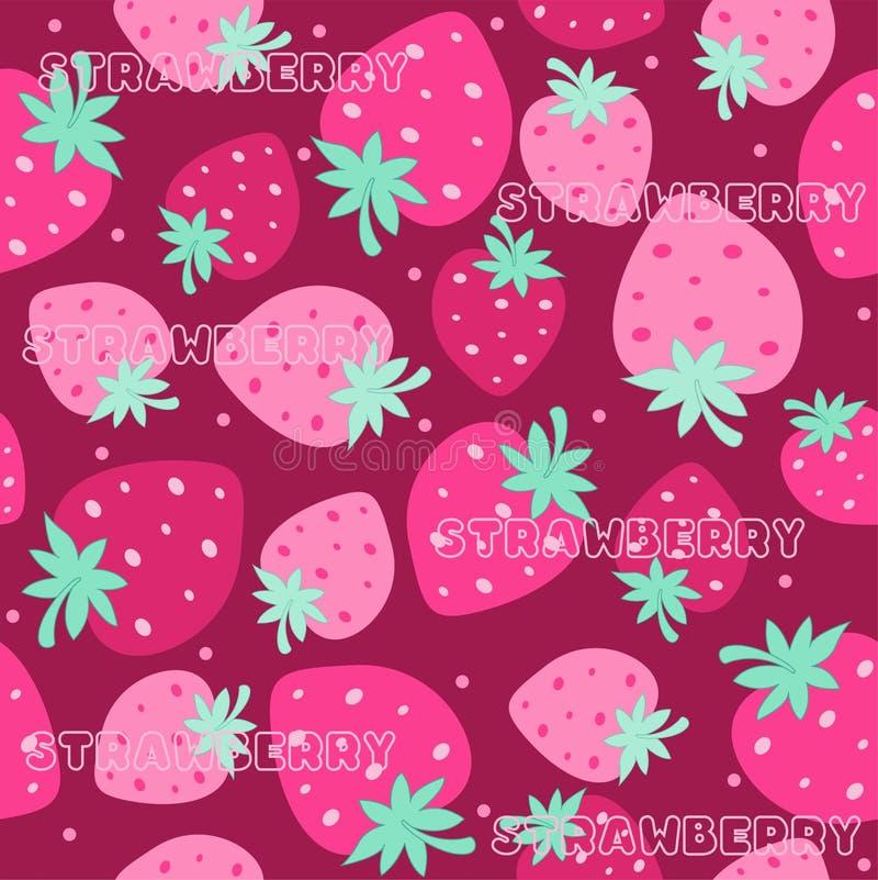 Strawberry seamless pattern royalty free illustration