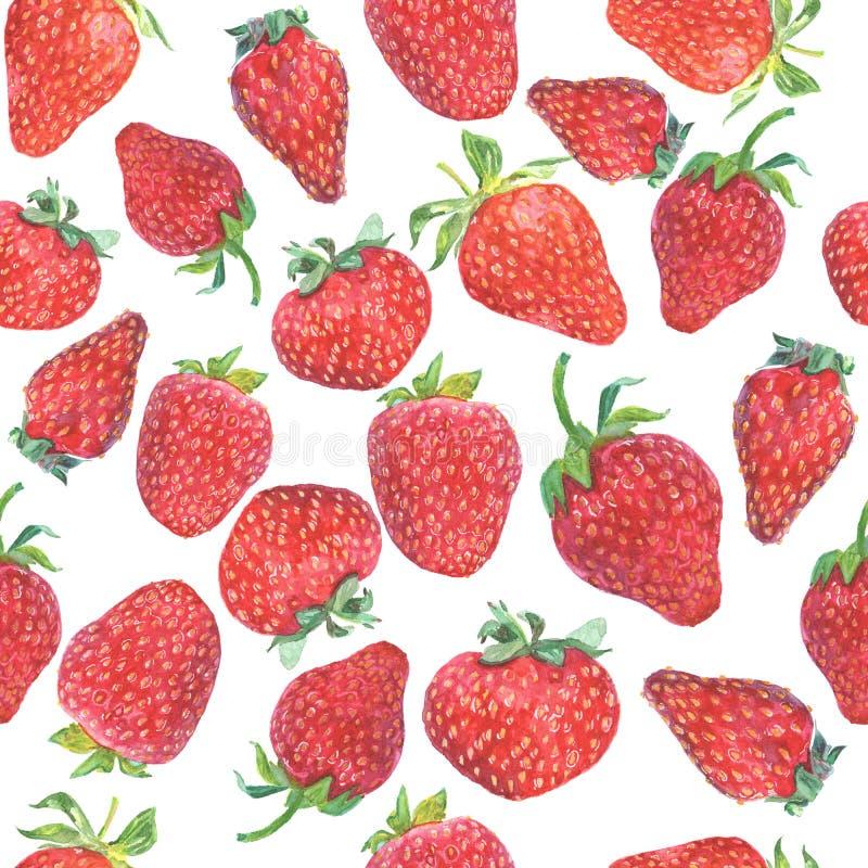 Strawberry seamless pattern. stock photography