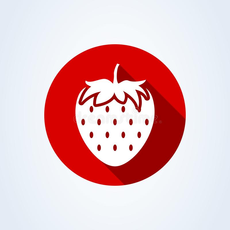 Strawberry simple flat style. Vector illustration icon isolated on white background royalty free illustration