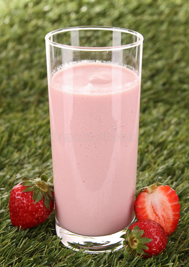 Download Strawberry smoothie stock image. Image of grass, shake - 23455983