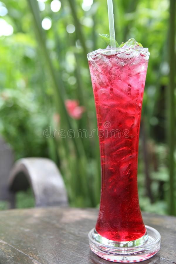 Strawberry soda stock photography