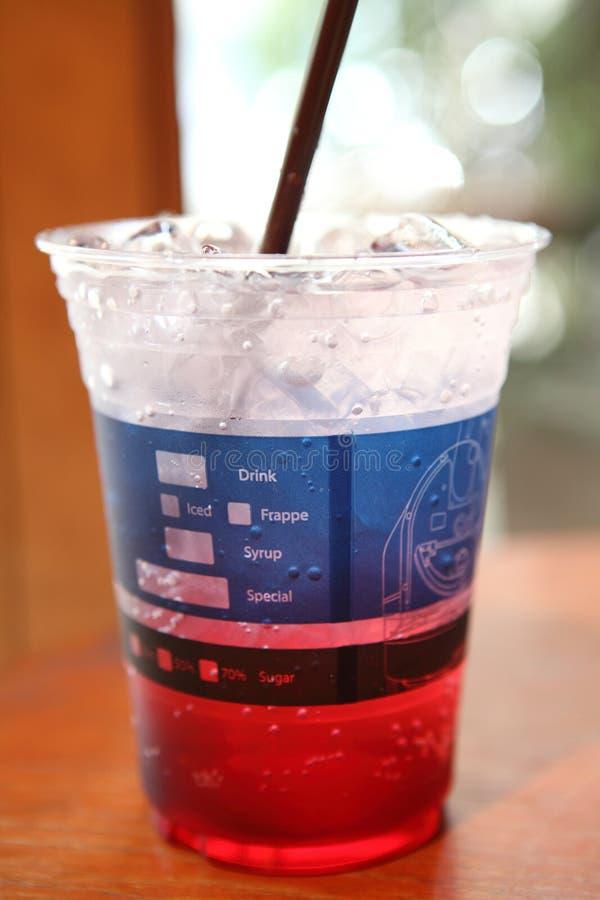 Strawberry soda stock photo