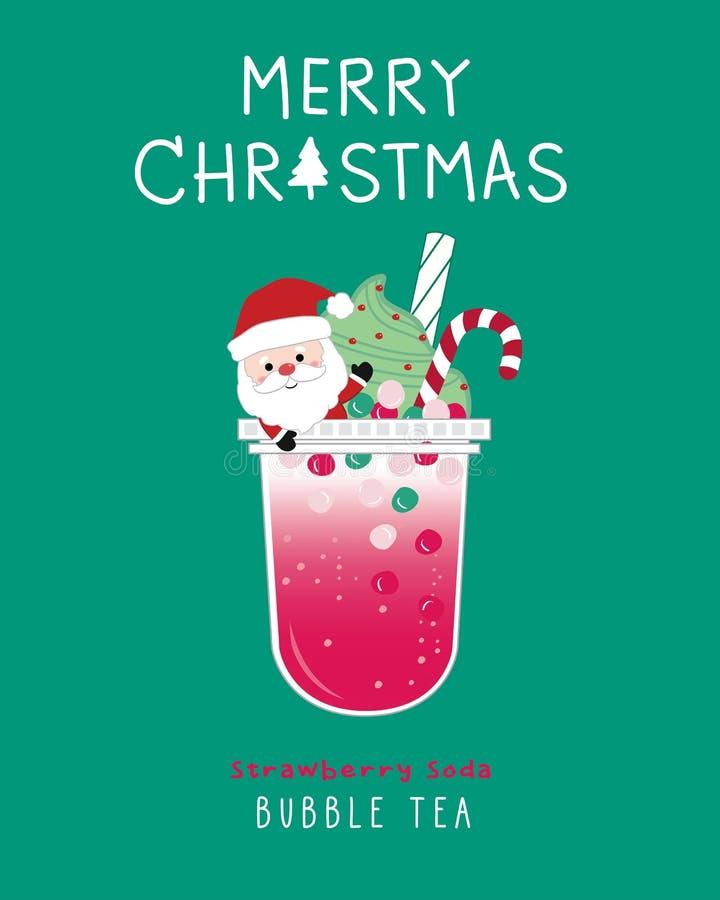 Strawberry soda Bubble Tea stock photos