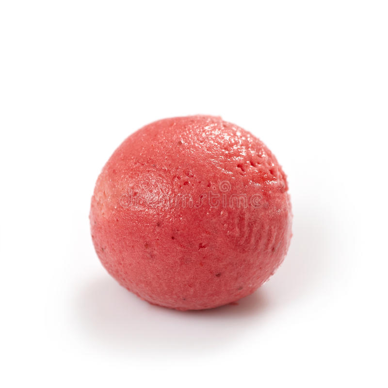 Strawberry sorbet royalty free stock photo