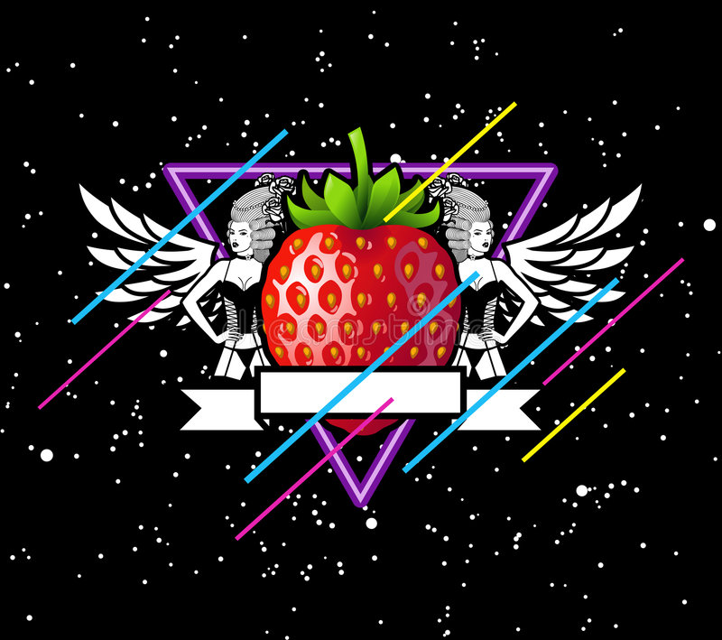 Download Strawberry In Space stock vector. Image of food, beautiful - 6476944